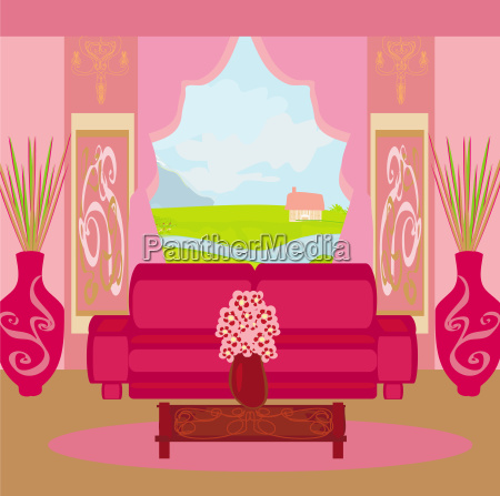 fashionable interior of living room