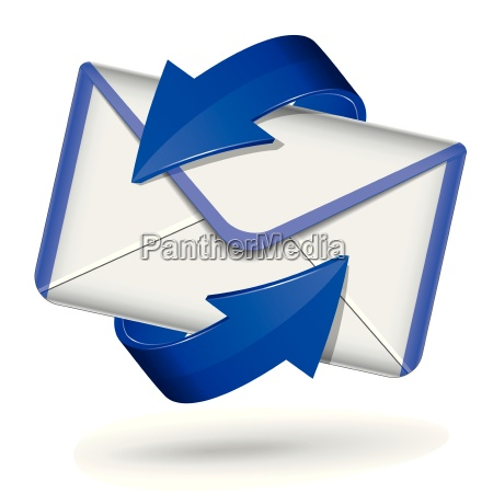 3d blue mail icon