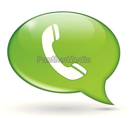 green phone bubble
