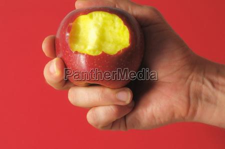 bitten red apple
