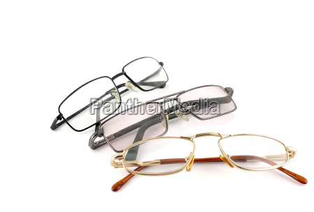optical glasses over white