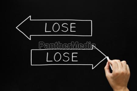 lose lose situation concept