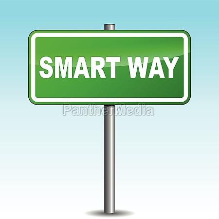 vector smart way signpost