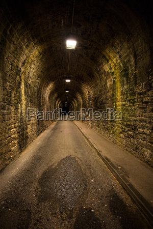 old vintage tunnel in biarritz at