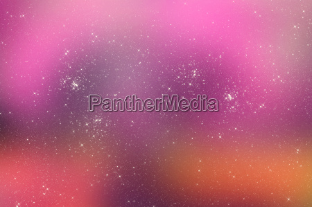 starry pink universe background with bright