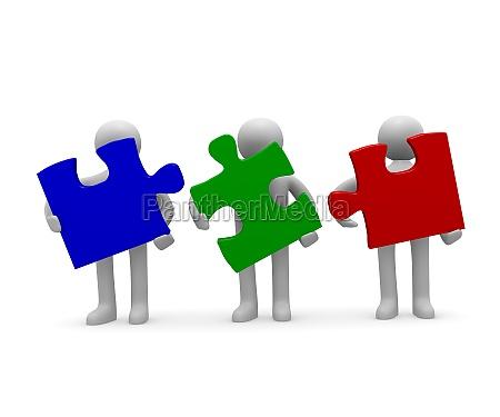 teamwork 3d concept