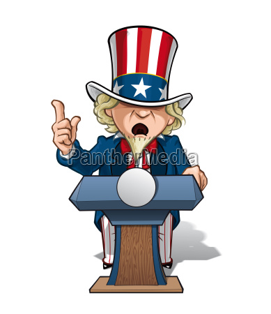 uncle sam presidential podium intense