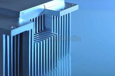 aluminum cooling fins