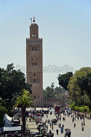 minaret of koutoubia mosque in marrakech