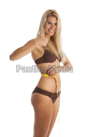 woman with a tape measure