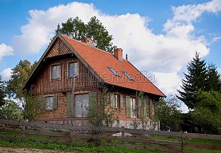 masurian wooden house