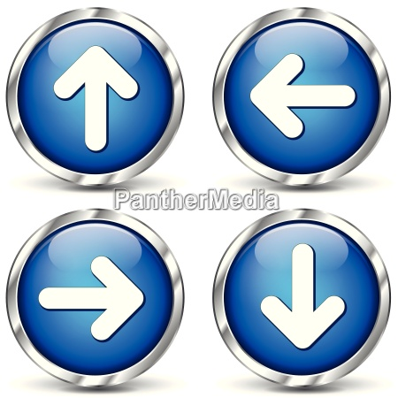 vector blue arrows icons