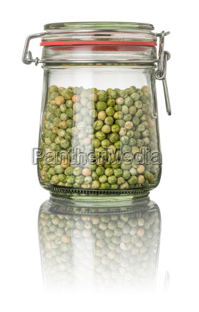 peas in a mason jar