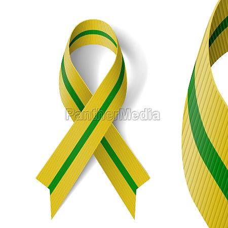 olive green ribbon