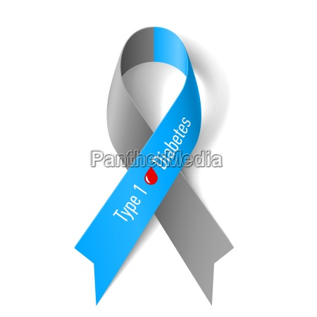 gray and blue ribbon with blood