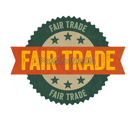 label with the label fairtrade