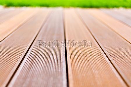 wooden platform made from bangkirai wood