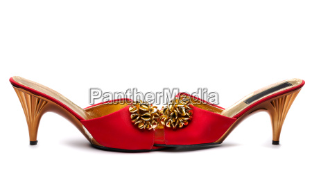 pair red female shoe