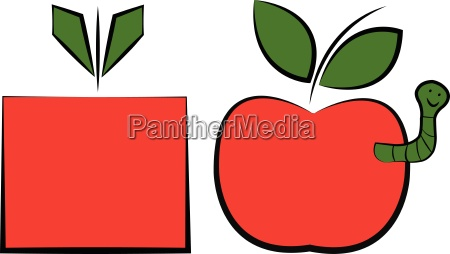 two apples one is organic and