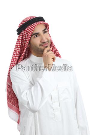 arab saudi emirates man thinking and