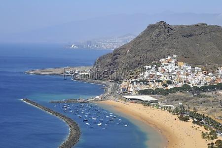 aerial view a beach of tenerife