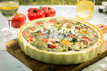 healthy vegetarian quiche for lunch