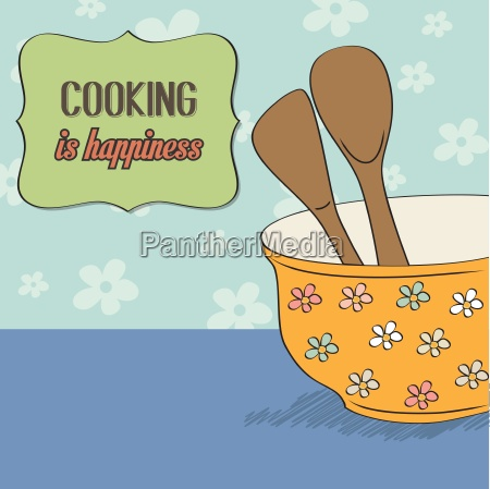 background with kitchen cooking wooden utensils