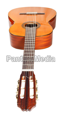 fretboard of classical acoustic guitar