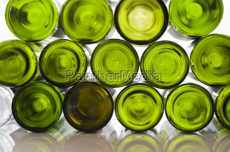 wine bottles against white background