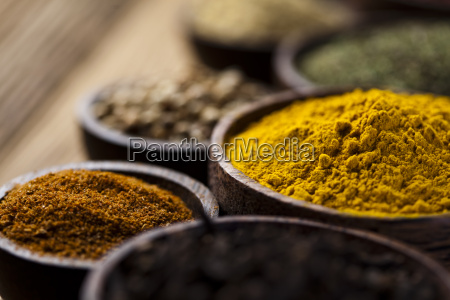 curry wooden bowl spice