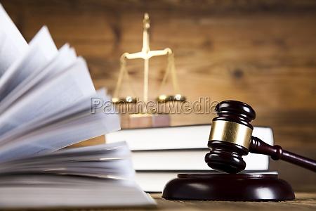 gavel law theme mallet of judge