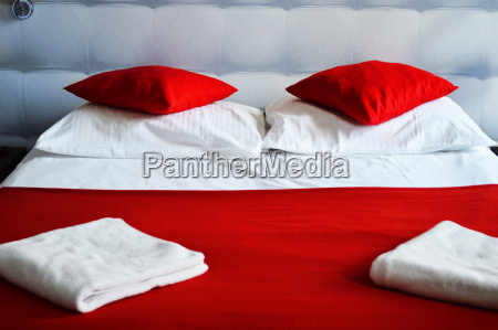 double bed in hotel room accommodation
