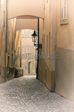 street in old prague czech republic