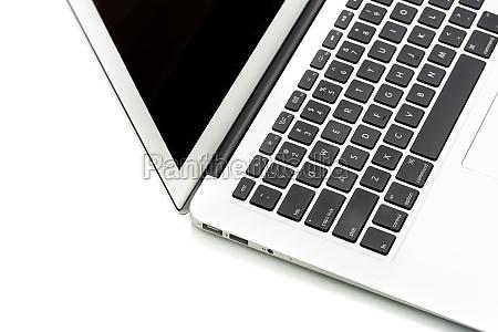 modern laptop computer on white