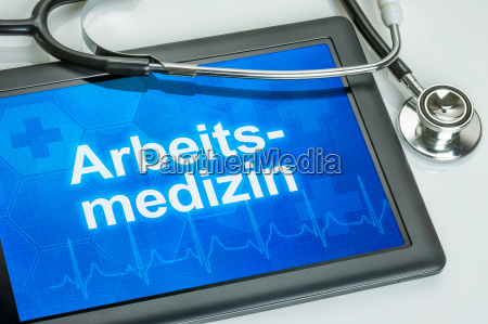 tablet with the text occupational medicine