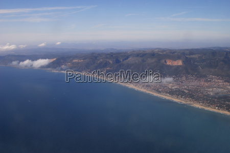 coast of spain from air