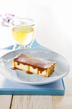 cake piece cake pieces caramel caramel