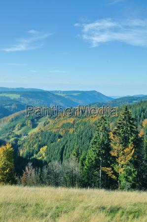 view from the schwarzwaldhochstrasse baden wuerttemberg