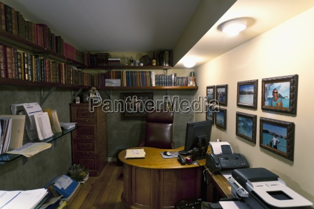 interior of executive home office laguna