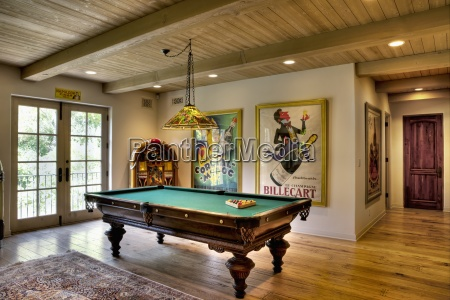 pool table in home california usa