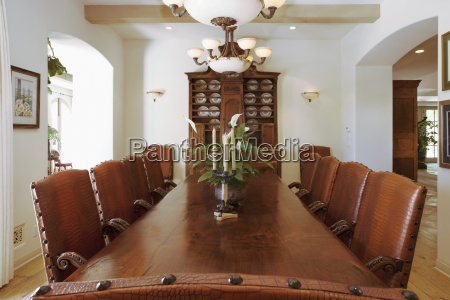 dinning room with candlestick holder on