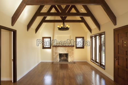 hardwood floor in empty living room