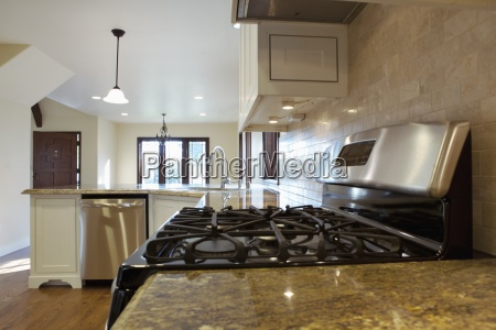 granite countertops in remodeled kitchen pasadena