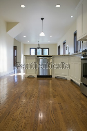 hardwood floor in traditional kitchen pasadena