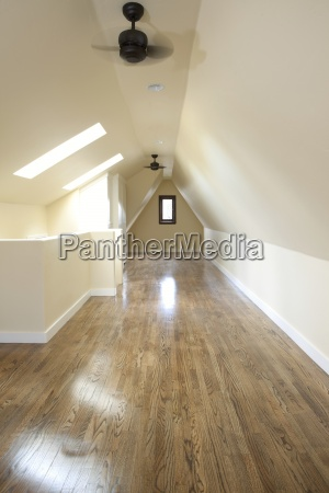 empty attic bedroom pasadena california usa