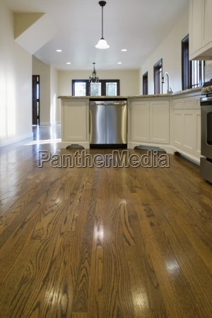 traditional kitchen with hardwood floor pasadena
