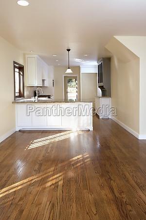 traditional kitchen with hardwood floor pasadena