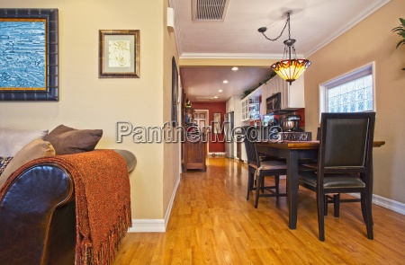 hardwood floors through dining room and