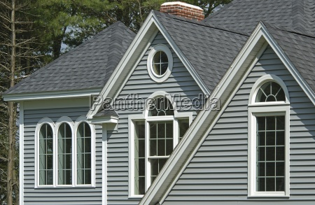 window with shingled roof in single