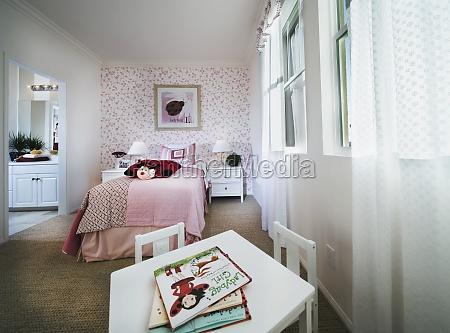 little girls pink lady bug room